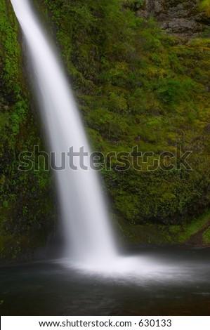 Horsetail Falls, Columbia Gorge, Oregon - stock photo