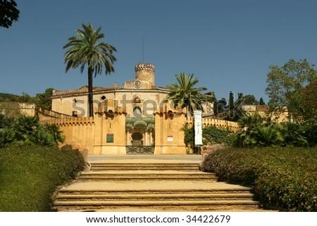 Horta Labyrinth. Rococo Style Park. Barcelona. Catalonia. Spain - stock photo