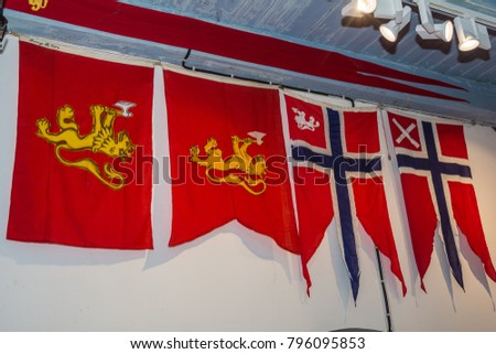 Horten, Norway - July 26, 2016: Royal Norwegian Navy Museum in Horten