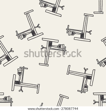 hospital bed doodle seamless pattern background