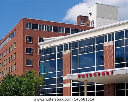 Hospital emergency entrance - stock photo