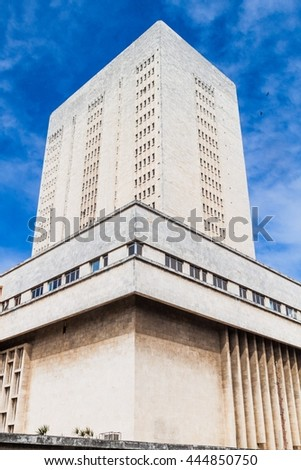 Hospital Hermanos Ameijeiras in Havana, Cuba - stock photo