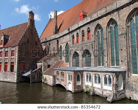 Hospital Museum , Bruges - stock photo