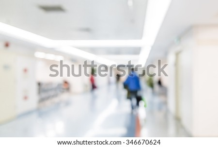 Hospital patients waiting for interrogation, abstract background.