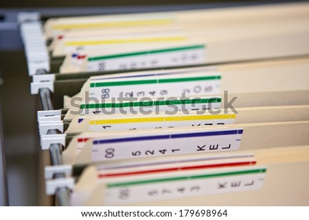 Hospital Records - stock photo