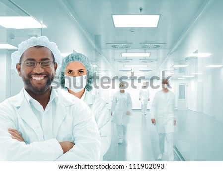 Hospital team in modern facility