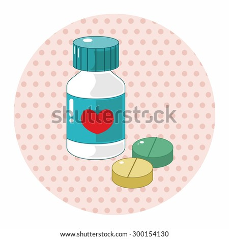 hospital theme medicine elements  - stock photo