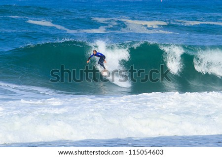 HOSSEGOR, FRANCE - OCTOBER 4: Dane Reynolds during the ASP Quiksilver Pro France October 4, 2012 in Hossegor, FRANCE.