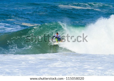 HOSSEGOR, FRANCE - OCTOBER 4: Gabriel Medina during the ASP Quiksilver Pro France October 4, 2012 in Hossegor, FRANCE.