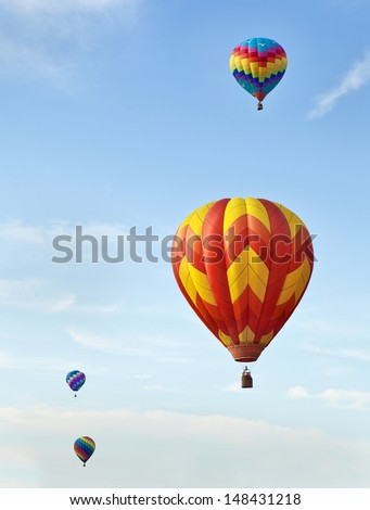 Hot air ballons and summer sky