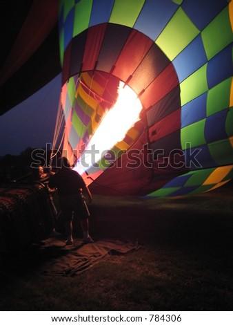 Hot Air Balloon. - stock photo