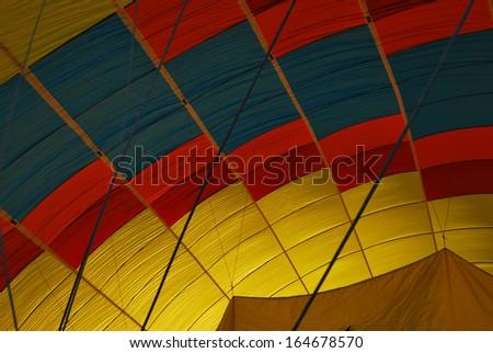 Hot Air Balloon at Lake Tahoe in California - stock photo