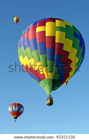 Hot air balloon at the festival