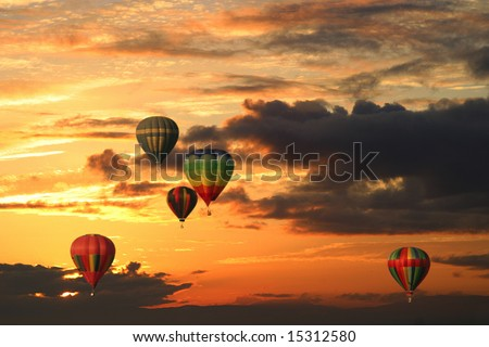 Hot-air Balloon Festival Tigard Oregon - stock photo