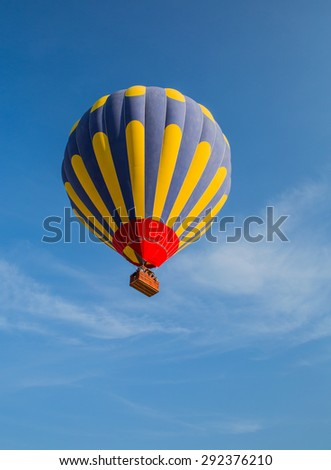 Hot air balloon flying over Cappadocia