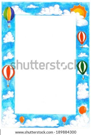 Hot air balloon frame - stock photo