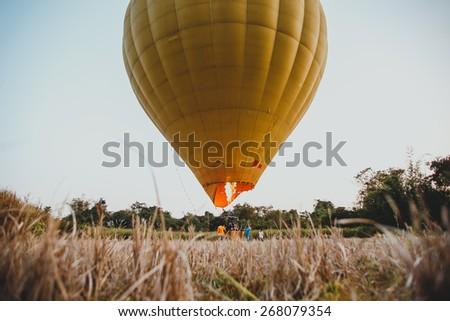 Hot air balloon in Laos - stock photo