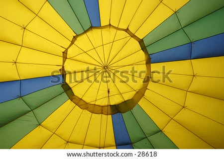 Hot Air Balloon interior. - stock photo