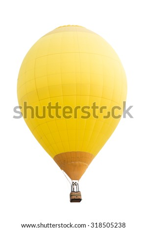 Hot air balloon isolated on white - stock photo