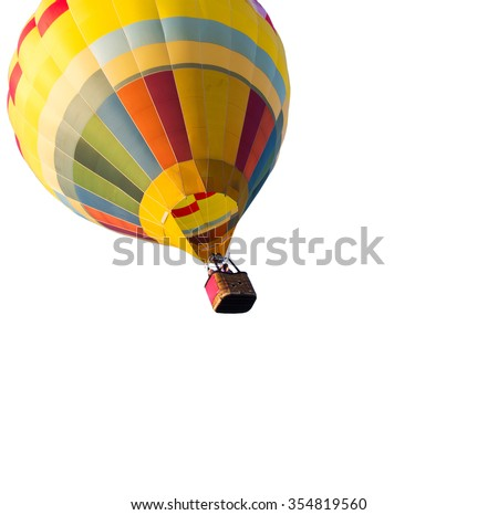 hot air balloon isolated on white background - stock photo