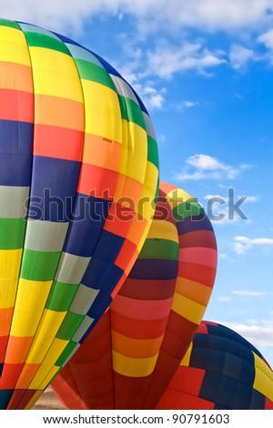Hot Air Balloon Lift Off - stock photo