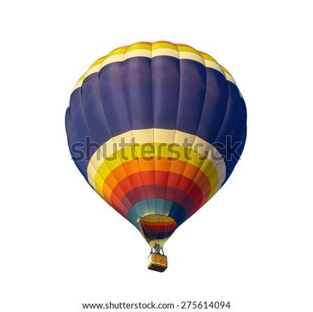 hot air balloon on  white  background - stock photo