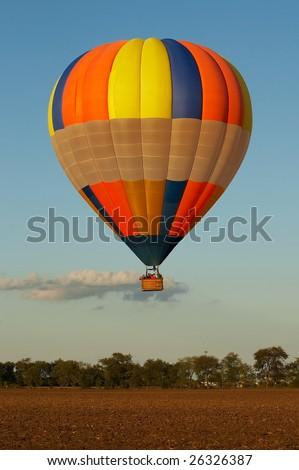 Hot Air balloon ride - stock photo