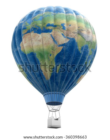 Hot air balloon world map image stock illustration 360398663 hot air balloon with world map image with clipping path elements of this image furnished gumiabroncs Choice Image