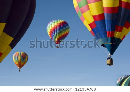 Hot Air Balloons in Gallup ,New Mexico. - stock photo