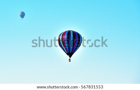 hot air balloons in Mondovi, Cuneo Italy