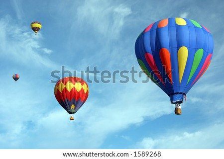 Hot air balloons over California
