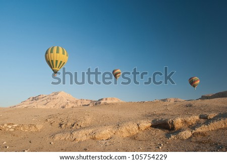 Hot Air Balloons Over The Valley of The Kings, Egypt