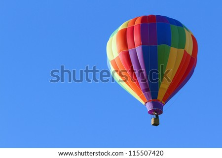Hot ar balloon in blue sky