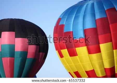 Hot balloon in Albuquerque, New Mexico - stock photo