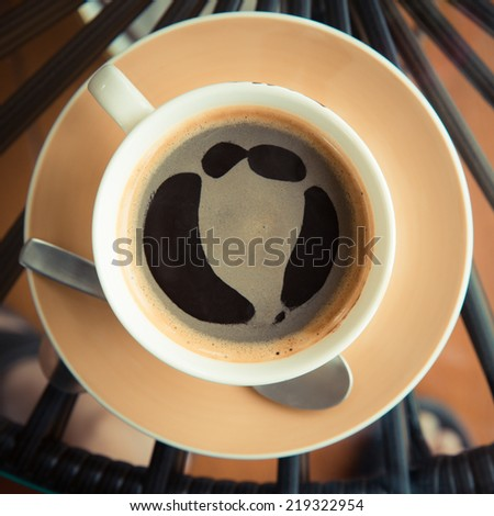 Hot black coffee. - stock photo