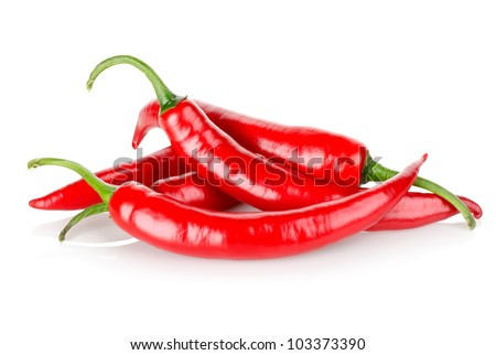 Hot chili peppers - stock photo