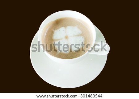 Hot Chocolate in white cups