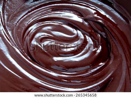 Hot chocolate melted - stock photo