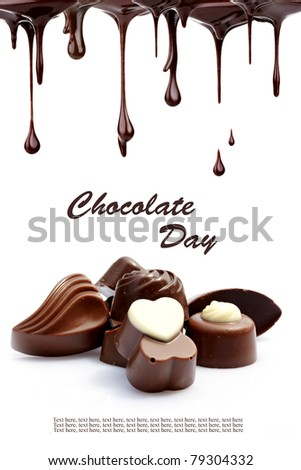 Hot chocolate pralines - stock photo