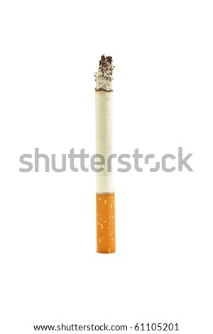 hot cigarette isolated on white - stock photo