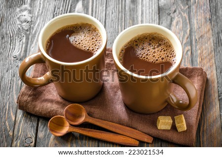 Hot cocoa drink - stock photo