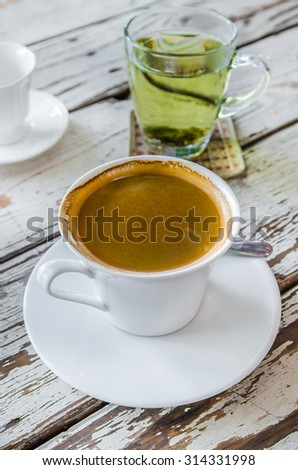 hot coffee Americano