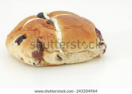 Hot cross bun - stock photo