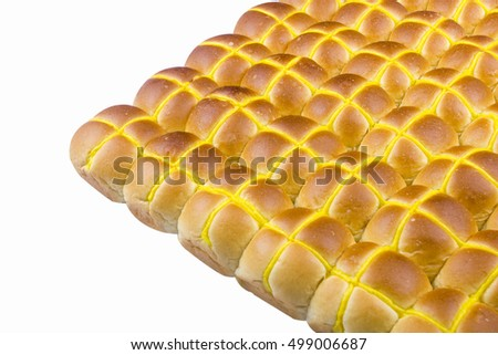 hot cross bun on isolated background