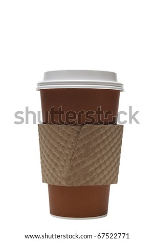 Hot cup of coffee to go - stock photo