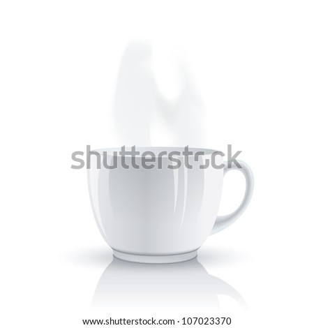 Hot cup. Raster version, vector file id: 106486895 - stock photo
