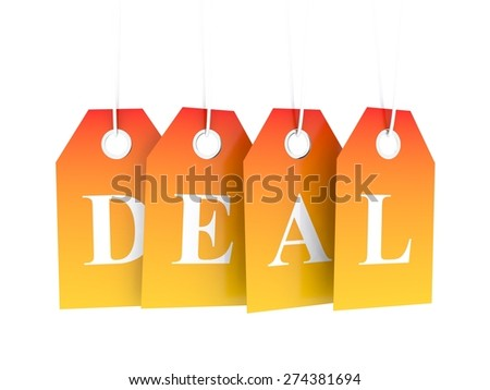 Hot deal - stock photo