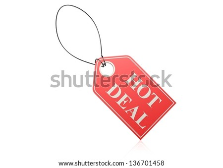 Hot deal label - stock photo