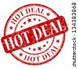 hot deal stamp - stock photo