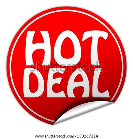 hot deal sticker - stock photo